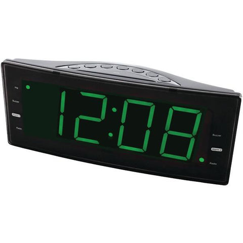 Naxa NRC-166 Easy-to-Read Dual Alarm Clock with Jumbo Display & USB Charger - Peazz.com