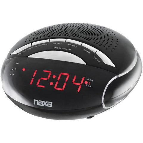 Naxa NRC170 Digital Alarm Clock with AM/FM Radio - Peazz.com