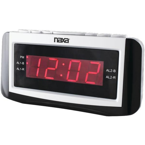 Naxa NRC171 Digital Alarm Clock with Large LED Display - Peazz.com