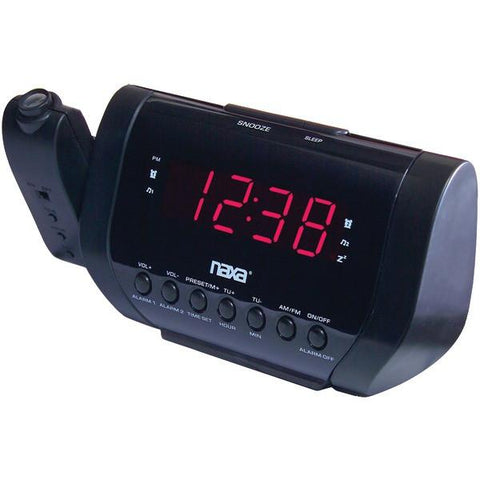 Naxa NRC-173 Projection Dual Alarm Clock - Peazz.com