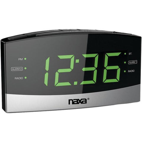 Naxa NRC-181 Bluetooth Easy-Read Dual-Alarm Clock with Daily Repeat - Peazz.com