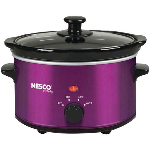 NESCO/American Harvest SC-150V 1.5-Quart Oval Slow Cooker (Metallic Purple) - Peazz.com