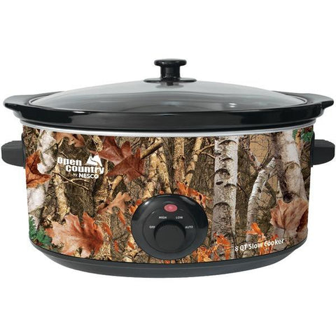 Open Country SC-8017 Portable 8-Quart Woodland Birch Slow Cooker - Peazz.com