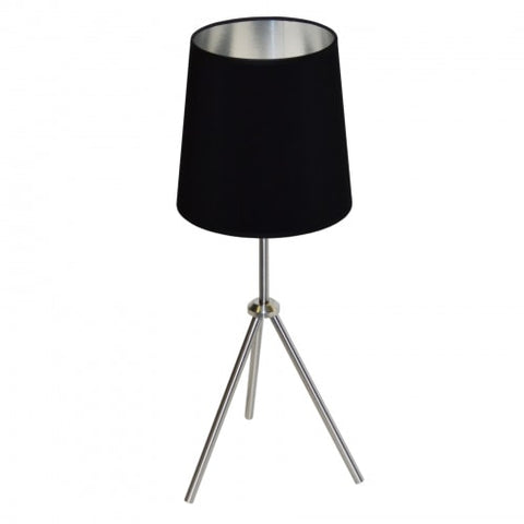 1LT 3 Leg Drum Table Fixture w/BK-SV Shd