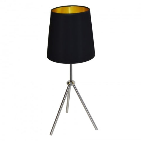 1LT 3 Leg Drum Table Fixture w/BK-GLD Shd