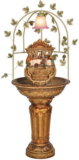 Ok Lighting OK-2534-FT1 Last Supper Floor Fountain With Lamp