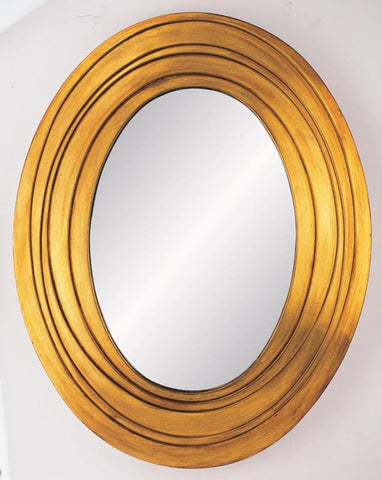 Ok Lighting OK-4211MR Golden Ripple Mirror - Peazz.com