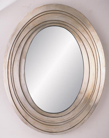 Ok Lighting OK-4212MR Silver Ripple Mirror - Peazz.com