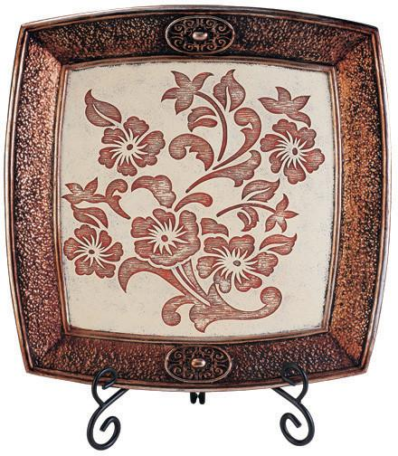 Ok Lighting OK-4214P Floral Charger With Stand