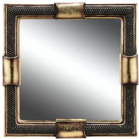 Ok Lighting OK-4223MR Beaded Stone Decorative Mirror - Peazz.com