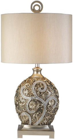 Ok Lighting OK-4232T Silver Vine Table Lamp - Peazz.com