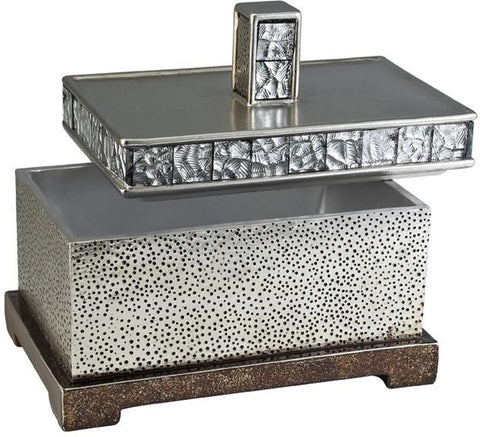 Ok Lighting OK-4239-JX1 Mirror Tiles Rectangular Decorative Box - Peazz.com