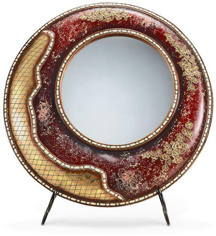 Ok Lighting OK-4242MR Crystal Stone Mirror - Peazz.com