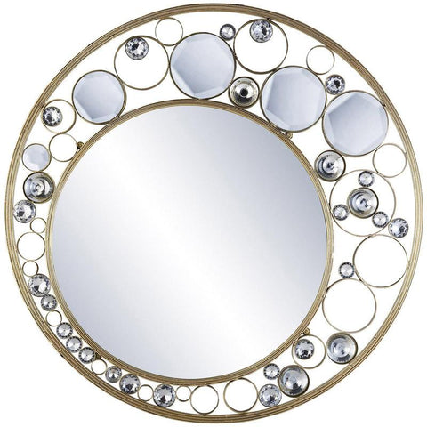 Ok Lighting OK-4260MR Glimmer Of Gold Wall Plaque Mirror - Peazz.com