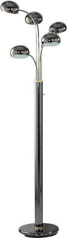 Ok Lighting OK-934C Floor Lamp With Black-Chrome Finish - Peazz.com