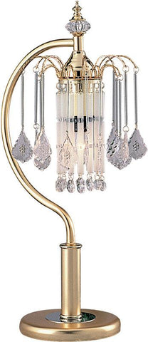 Ok Lighting OK-957TSG French Gold Tablelamp With Crystal Shade - Peazz.com