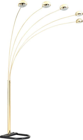 Ok Lighting OK-9628G Brass 5-Arch Floor Lamp - Peazz.com