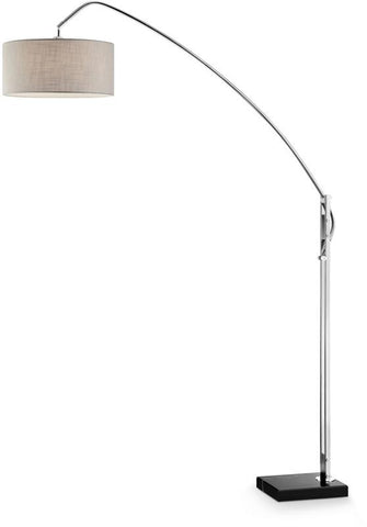 Ok Lighting OK-9746SR Avant Brushed Nickel Arch-Floor Lamp - Peazz.com