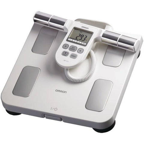 Omron HBF-510W Full-Body Sensor Body Composition Monitor & Scale (White) - Peazz.com