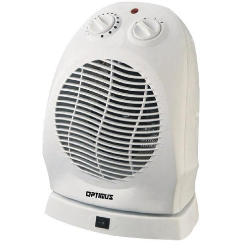 Optimus H-1382 Portable Oscillating Fan Heater with Thermostat - Peazz.com