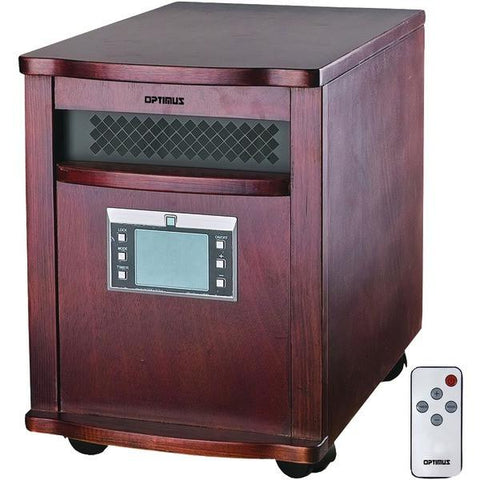 Optimus H-8010 IR Quartz Heater with Remote - Peazz.com