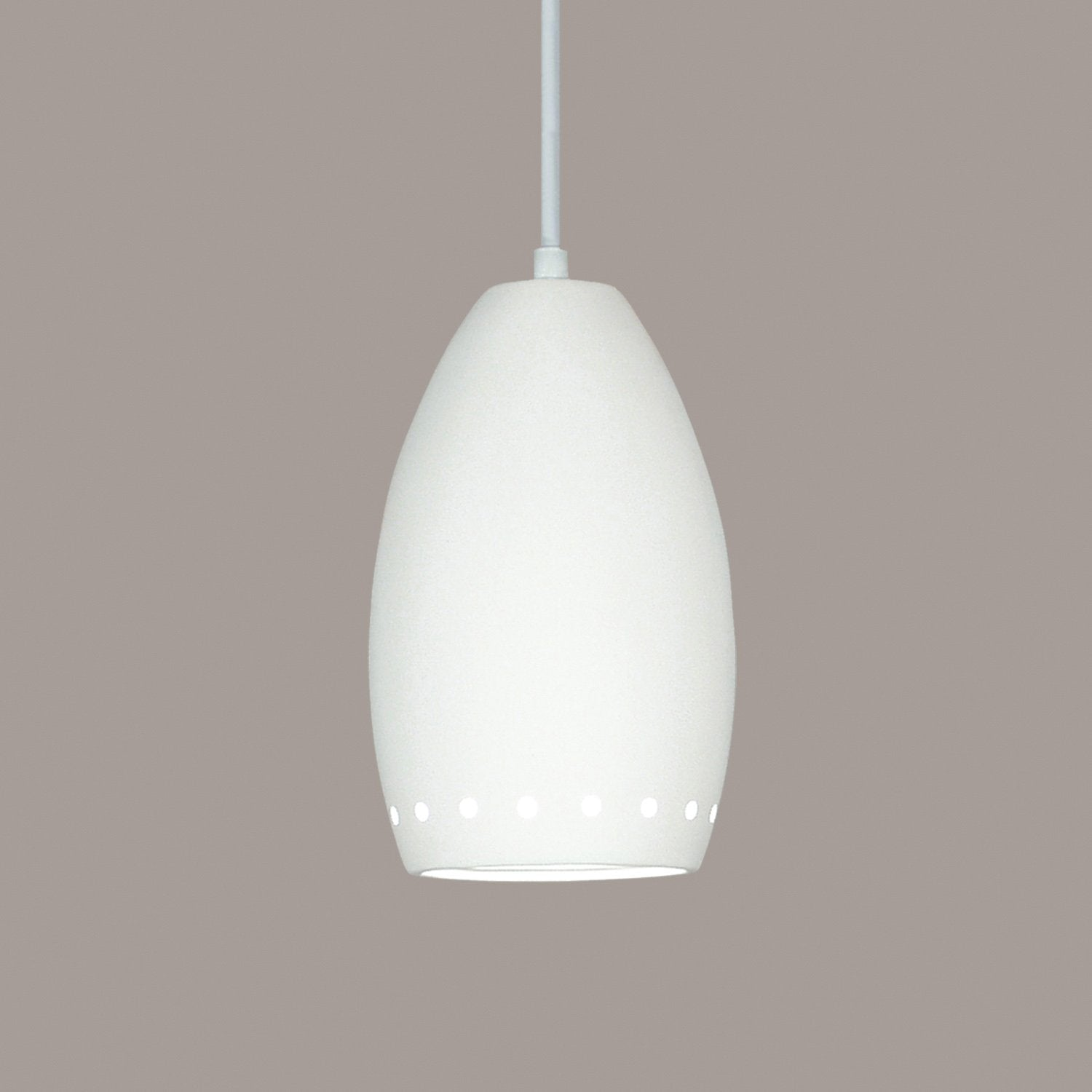 A19 P1503-A31-BCC Islands of Light Collection Grenada Satin White Finish Pendant