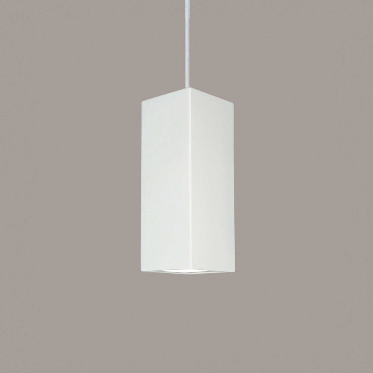 A19 P1801-GU24-WG-BCC Islands of Light Collection Timor White Gloss Finish Pendant