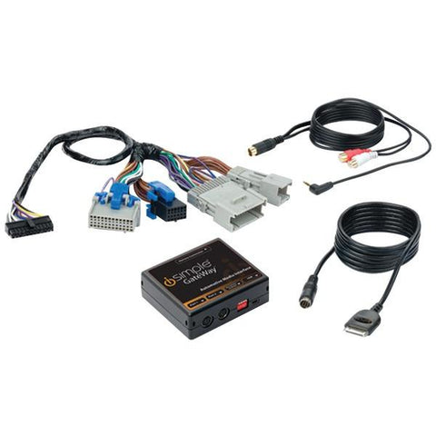 iSimple ISGM575 iPhone/iPod & Auxiliary Audio-Input Interface GateWay Kit with HD Radio (for Select GM Class II) - Peazz.com