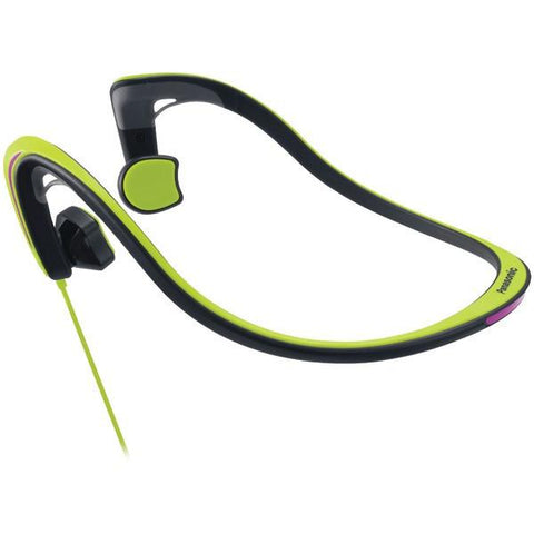 Panasonic RP-HGS10-G Open-Ear Bone Conduction Headphones with Reflective Design (Green) - Peazz.com