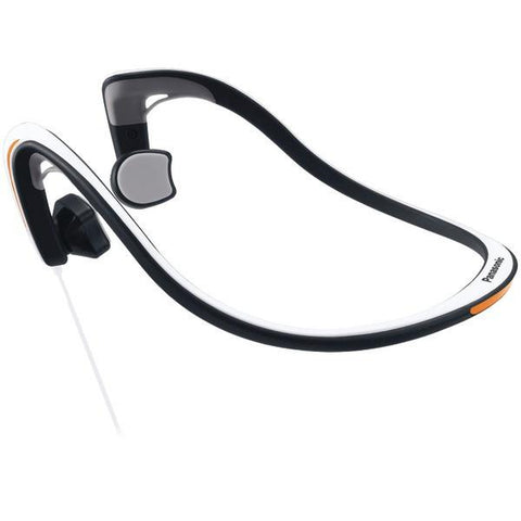 Panasonic RP-HGS10-W Open-Ear Bone Conduction Headphones with Reflective Design (White) - Peazz.com