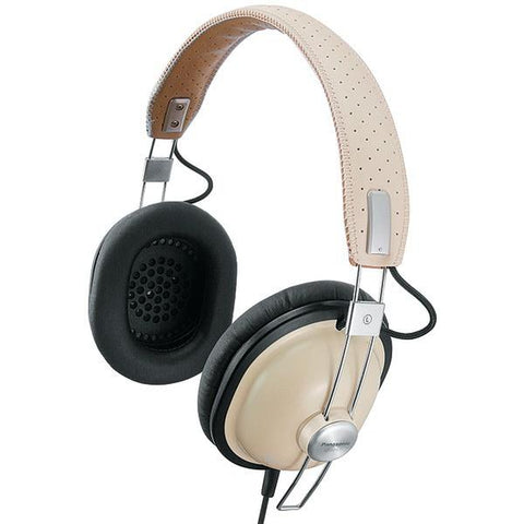 Panasonic RP-HTX7-C1 HTX7 Retro Monitor Stereo Headphones (Cream) - Peazz.com