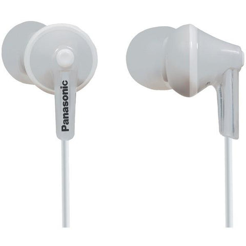 Panasonic RP-HJE125-W HJE125 ErgoFit In-Ear Earbuds (White) - Peazz.com