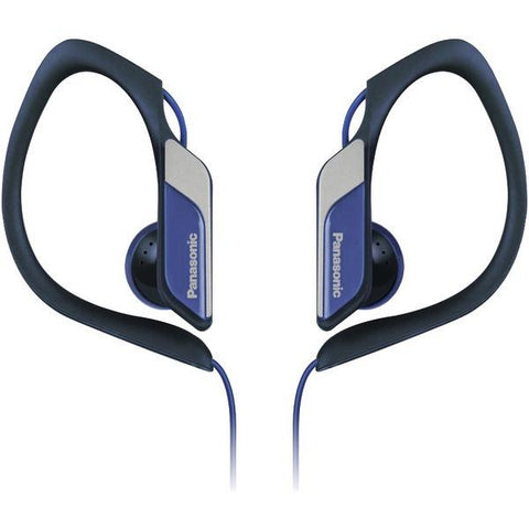 Panasonic RP-HS34M-A HS34 Sport Headphones with Microphone (Blue) - Peazz.com