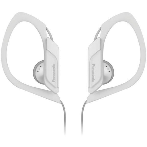 Panasonic RP-HS34M-W HS34 Sport Headphones with Microphone (White) - Peazz.com