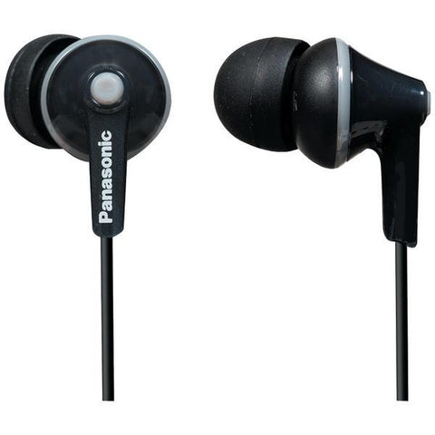 Panasonic RP-TCM125-K TCM125 Earbuds with Remote & Microphone (Black) - Peazz.com