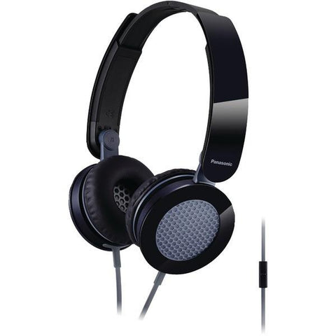 Panasonic RP-HXS200M-K Sound Rush On-Ear Headphones with Microphone (Black) - Peazz.com