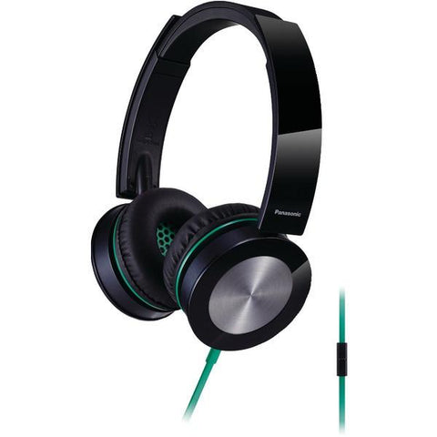 Panasonic RP-HXS400M-K Sound Rush Plus On-Ear Headphones with Microphone (Black) - Peazz.com