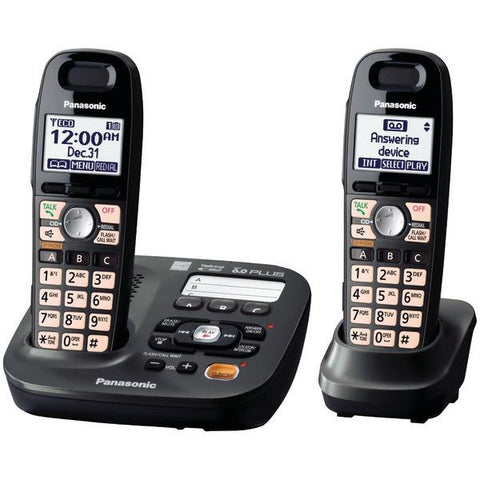 Panasonic KX-TG6592T DECT 6.0 Plus Cordless Amplified Phone System (2-handset system) - Peazz.com