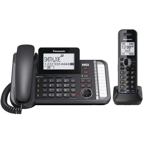 Panasonic KX-TG9581B DECT 6.0 1.9 GHz Link2Cell 2-Line Digital Corded/Cordless Phone (1 Handset) - Peazz.com