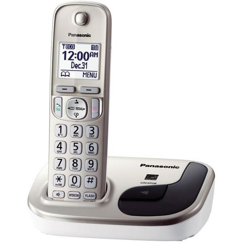 Panasonic KX-TGD210N DECT 6.0 Plus Single Handset Expandable Digital Cordless Phone System - Peazz.com