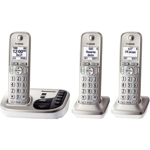 Panasonic KX-TGD223N DECT 6.0 Plus Expandable Digital Cordless Answering System (3-Handset System) - Peazz.com
