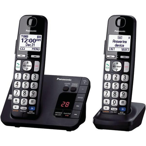 Panasonic KX-TGE232B DECT 6.0 Plus Expandable Digital Cordless Answering System (2-Handset System) - Peazz.com