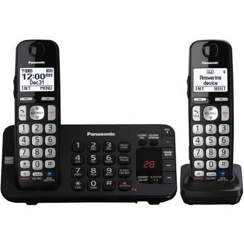 Panasonic KX-TGE243B DECT 6.0 Plus Expandable Digital Cordless Answering System (3-Handset System) - Peazz.com