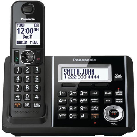 Panasonic KX-TGF340B DECT 6.0 1.9 GHz Expandable Digital Cordless Phone System (1 Handset) - Peazz.com