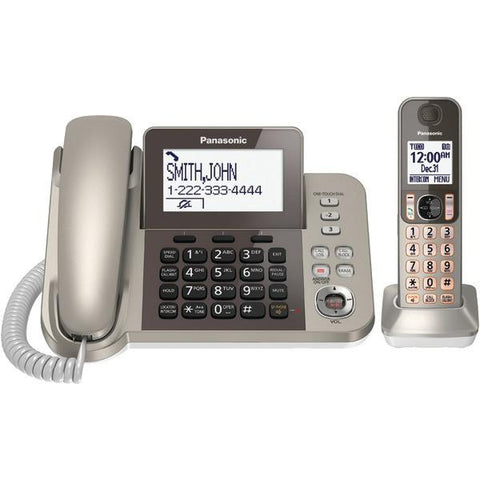 Panasonic KX-TGF350N DECT 6.0 Corded/Cordless Phone System with Caller ID & Answering System (1 Handset) - Peazz.com
