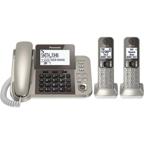 Panasonic KX-TGF352N DECT 6.0 Corded/Cordless Phone System with Caller ID & Answering System (2 Handsets) - Peazz.com