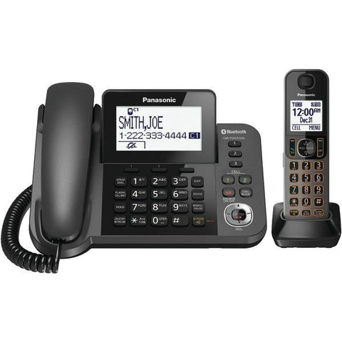 Panasonic KX-TGF380M DECT 6.0 1.9GHz Link2Cell 1-Line Corded/Cordless with TAD (1 Cordless Handset) - Peazz.com