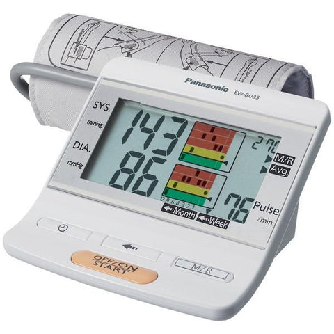 Panasonic EW-BU35W Upper Arm Blood Pressure Monitor - Peazz.com