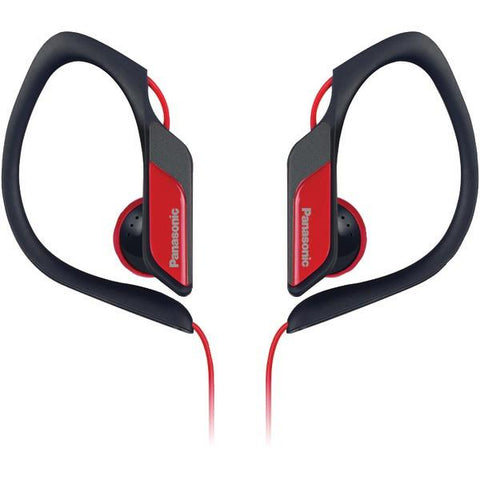 Panasonic RP-HS34-R Sweat-Resistant Sports Earbuds (Red) - Peazz.com