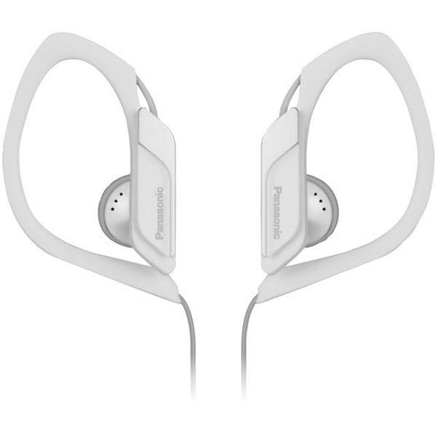 Panasonic RP-HS34-W Sweat-Resistant Sports Earbuds (White) - Peazz.com